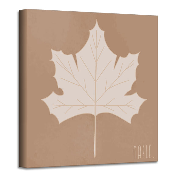 'Minimal Leaf I' Fall Wrapped Canvas Wall Art