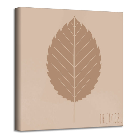 'Minimal Leaf II' Fall Wrapped Canvas Wall Art