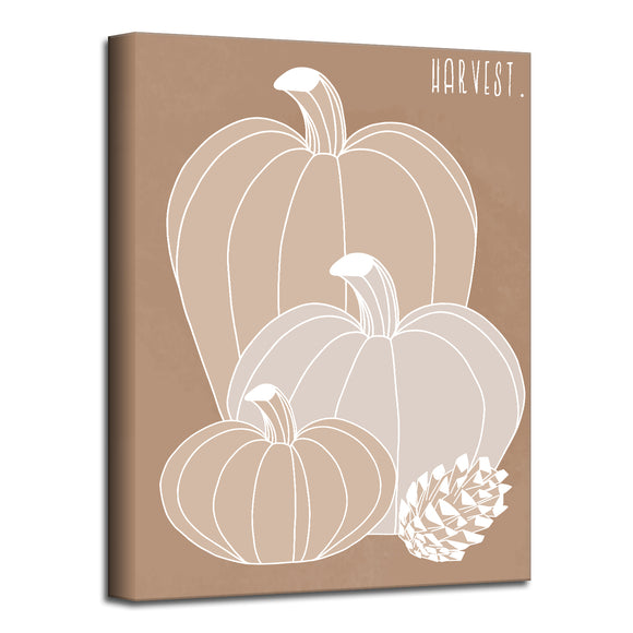 'Minimal Harvest I' Fall Wrapped Canvas Wall Art