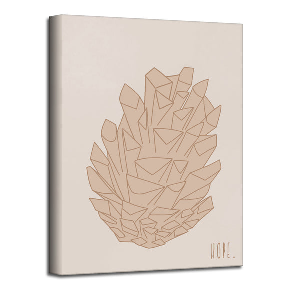 'Minimal Pinecone I' Fall Wrapped Canvas Wall Art