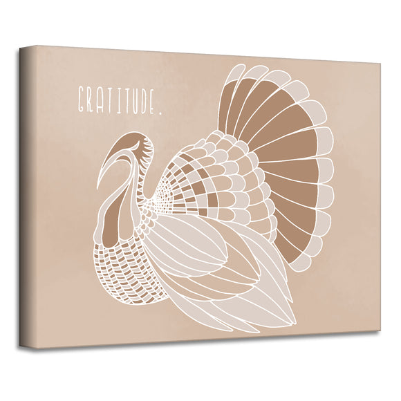 'Minimal Turkey II' Fall Wrapped Canvas Wall Art