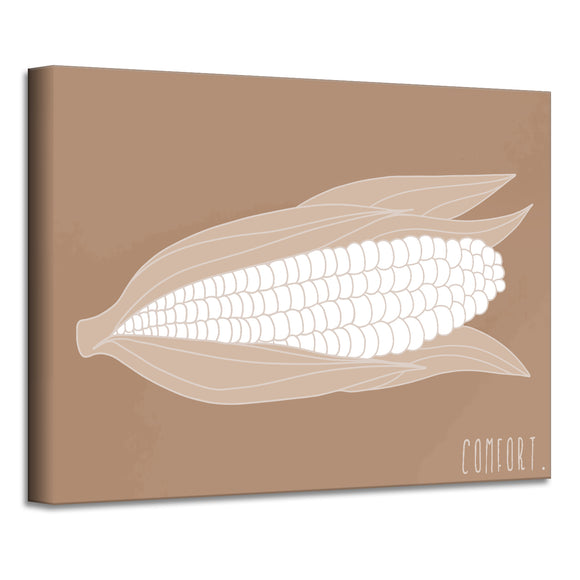 'Minimal Corn' Fall Wrapped Canvas Wall Art
