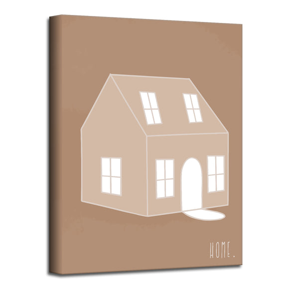 'Minimal Home' Fall Wrapped Canvas Wall Art