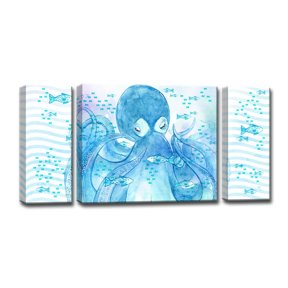 Ready2HangArt™ 'Swimming with Fishes' 3-PC  Wrapped Canvas Art Set