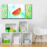 Ready2HangArt™ 'Watermelon Splash' 3-PC  Wrapped Canvas Art Set