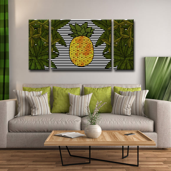Ready2HangArt™ 'Pineapple Trail' 3-PC  Wrapped Canvas Art Set