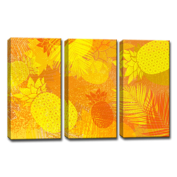 Ready2HangArt™ 'Pineapple Party' 3-PC  Wrapped Canvas Art Set