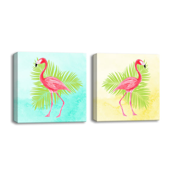 Ready2HangArt™ 'Flamingo I/II' 2-PC  Wrapped Canvas Art Set