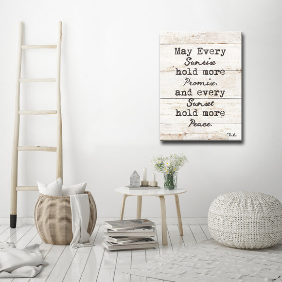 Ready2HangArt 'Every Sunrise & Sunset' Inspirational Canvas Art by Olivia Rose