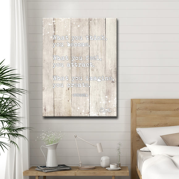 Ready2HangArt 'Buddha Quote' Inspirational Canvas Art by Olivia Rose