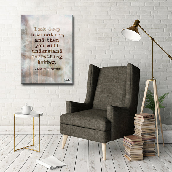 'Einstein Quote' Inspirational Canvas Art by Olivia Rose
