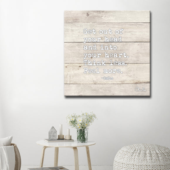 'Feel More' Inspirational Canvas Art by Olivia Rose