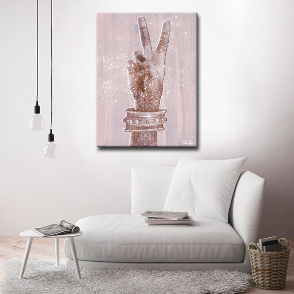 Ready2HangArt 'Peace' Inspirational Canvas Art by Olivia Rose