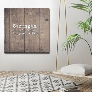 Ready2HangArt 'Define Strength' Inspirational Canvas Art by Olivia Rose