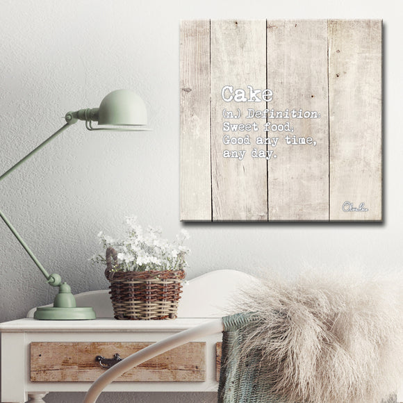 Ready2HangArt 'Define Cake' Inspirational Canvas Art by Olivia Rose