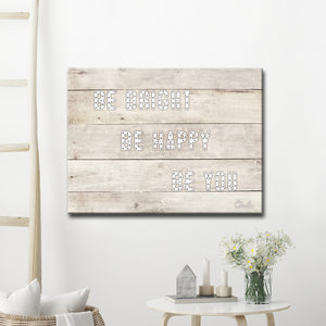 Ready2HangArt 'Be Bright' Inspirational Canvas Art by Olivia Rose