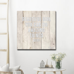 Ready2HangArt 'Beautiful Girl' Inspirational Canvas Art by Olivia Rose