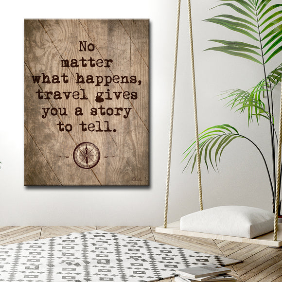 Ready2HangArt Inspirational 'Travel' Wrapped Canvas Wall Art