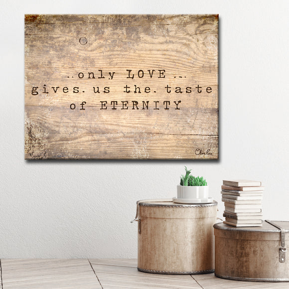 Ready2HangArt Inspirational 'Loving Eternity' Wrapped Canvas Wall Art