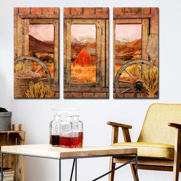 Ready2HangArt Rustic 'Farmhouse' 3-Piece Wrapped Canvas Wall Art Set