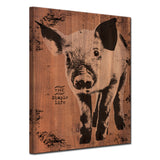 Ready2HangArt Farmhouse 'Pig' Wrapped Canvas Wall Art