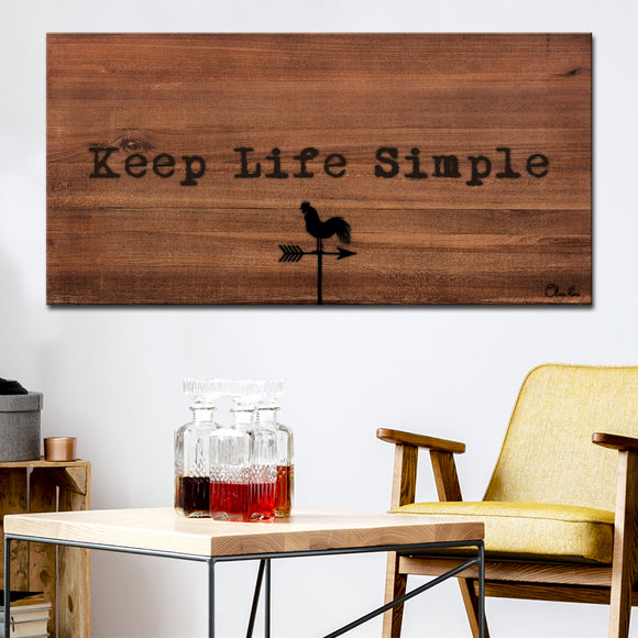 Ready2HangArt Farmhouse 'Simple Life' Wrapped Canvas Wall Art