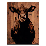 Ready2HangArt Farmhouse 'Moo' Wrapped Canvas Wall Art