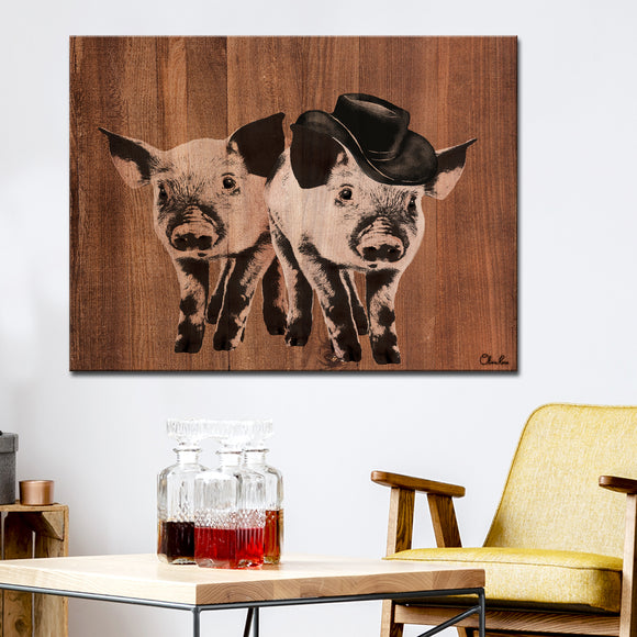 Ready2HangArt Farmhouse 'Pig Duo' Wrapped Canvas Wall Art