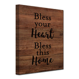 Ready2HangArt Farmhouse 'Bless this Home' Wrapped Canvas Wall Art
