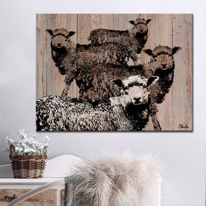 Ready2HangArt Farmhouse 'Flock of Sheep' Wrapped Canvas Wall Art