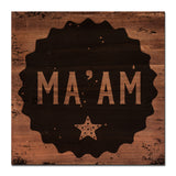 Ready2HangArt Farmhouse 'Ma'am' Wrapped Canvas Wall Art
