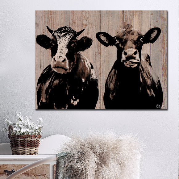 Ready2HangArt Farmhouse 'Cow Duo' Wrapped Canvas Wall Art
