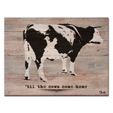 Ready2HangArt Farmhouse 'Cows Come Home' Wrapped Canvas Wall Art