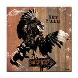 Ready2HangArt Farmhouse 'Rooster Fly' Wrapped Canvas Wall Art