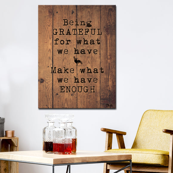 Ready2HangArt Farmhouse 'Grateful' Wrapped Canvas Wall Art