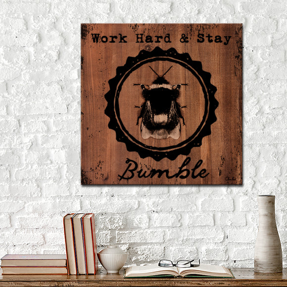 Ready2HangArt Farmhouse 'Bumble' Wrapped Canvas Wall Art