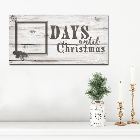 Ready2HangArt 'Days til Christmas' ArtPlexi Dry-Erase Advent Calendar