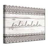Ready2HangArt 'Christmas Falala' Wrapped Canvas Shabby Chic Textual Wall Art