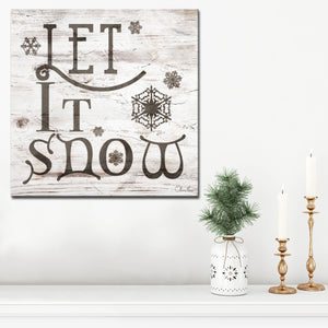 Ready2HangArt 'Christmas Let It Snow' Wrapped Canvas Textual Wall Art
