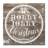 Ready2HangArt 'Christmas Holly Jolly' Wrapped Canvas Textual Wall Art