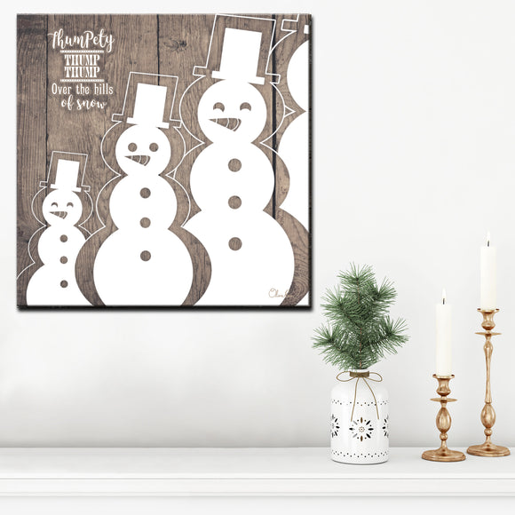 Ready2HangArt 'Christmas Snowman' Wrapped Canvas Textual Wall Art