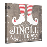 Ready2HangArt 'Christmas Jingle all the Way' Wrapped Canvas Textual Wall Art