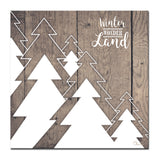 Ready2HangArt 'Christmas Many Trees' Wrapped Canvas Textual Wall Art