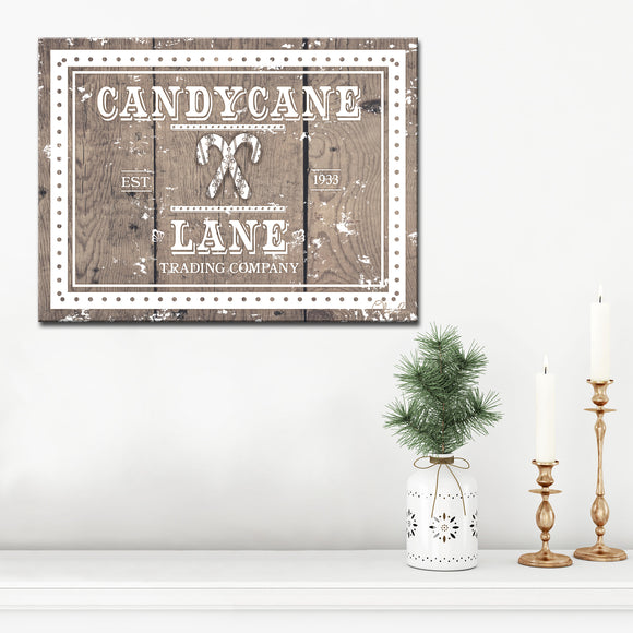 Ready2HangArt 'Christmas Candycane Lane' Wrapped Canvas Textual Wall Art