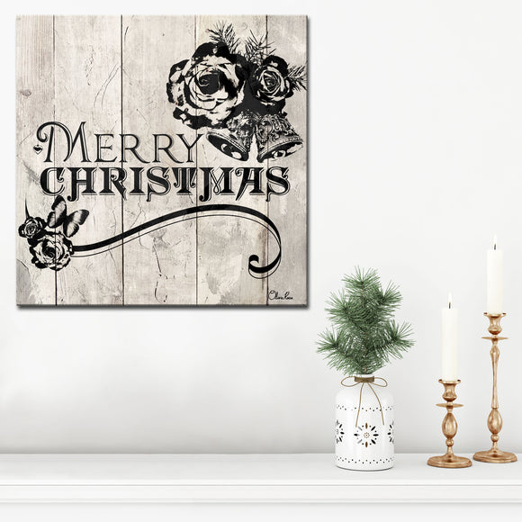 Ready2HangArt 'Shabby Chic Christmas' Wrapped Canvas Holiday Textual Wall Art