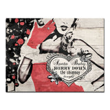 Ready2HangArt 'Christmas Santa Baby Lady' Wrapped Canvas Textual Wall Art