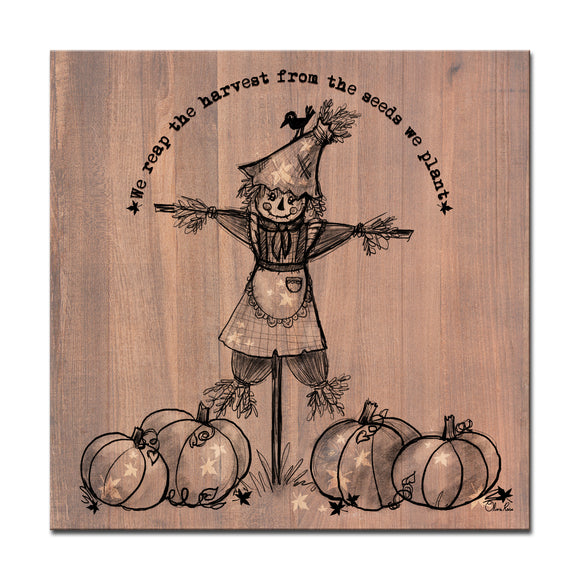 Ready2HangArt 'Reap the Harvest' Wrapped Canvas Shabby Chic Fall Textual Wall Art