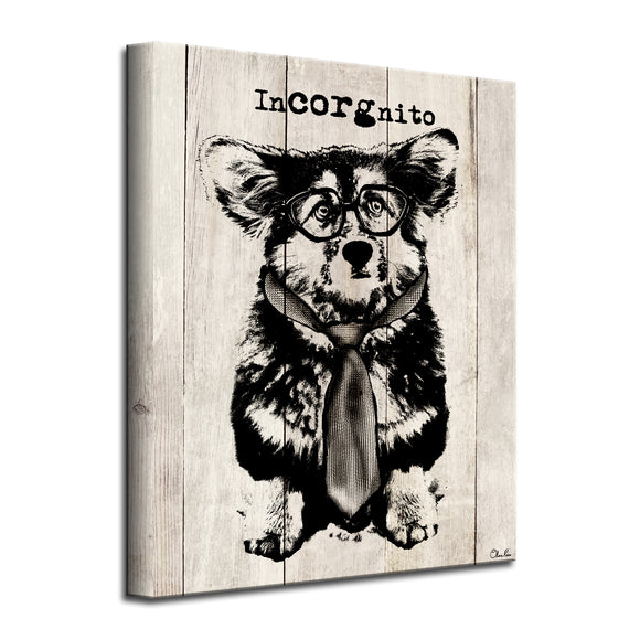'Incorgnito' Wrapped Canvas Dog Wall Art