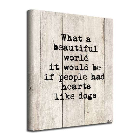 'Beautiful Hearts' Wrapped Canvas Dog Wall Art