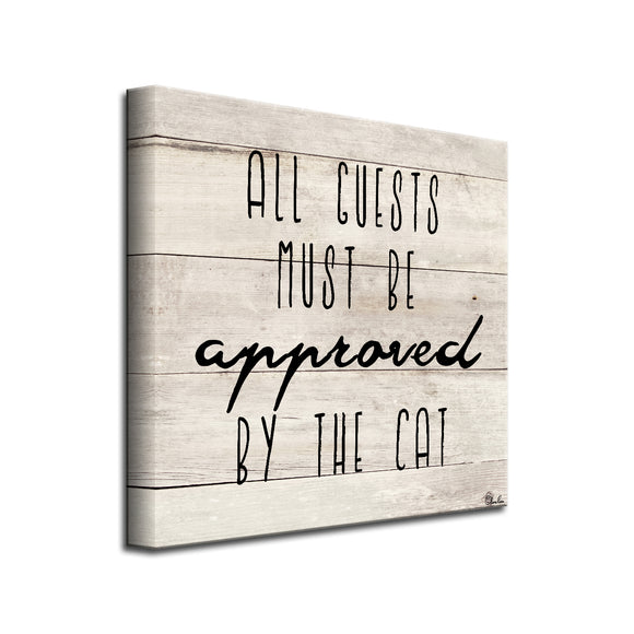 'Cat Approved' Wrapped Canvas Pet Wall Art